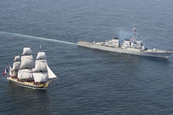 Partie le 18 avril de l'île d'Aix, en Charente-Maritime, l'Hermione arrivera vendredi matin à 8 heures locale à Yorktown pour sa première escale officielle américaine, à 260 km au sud de Washington.