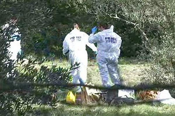 Nîmes - le corps calciné d'un jeune homme retrouvé dans une propriété privée près de la route d'Anduze - 1er février 2016.