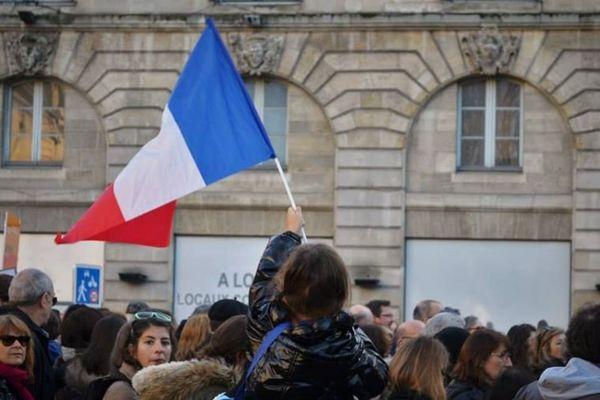 Marche républicaine à Bordeaux le 11 janvier 2015