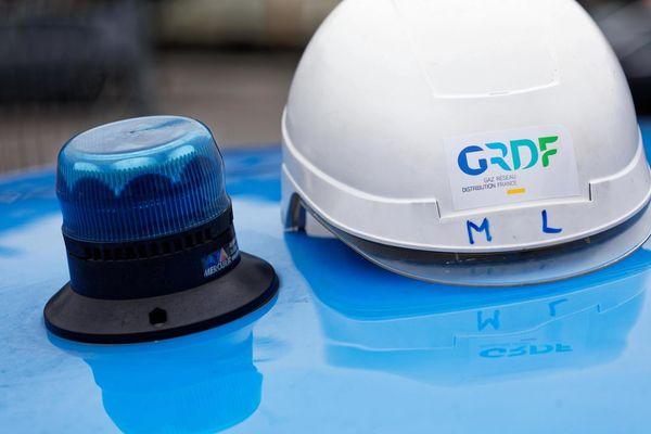Le casque des agents ERDF à Metz