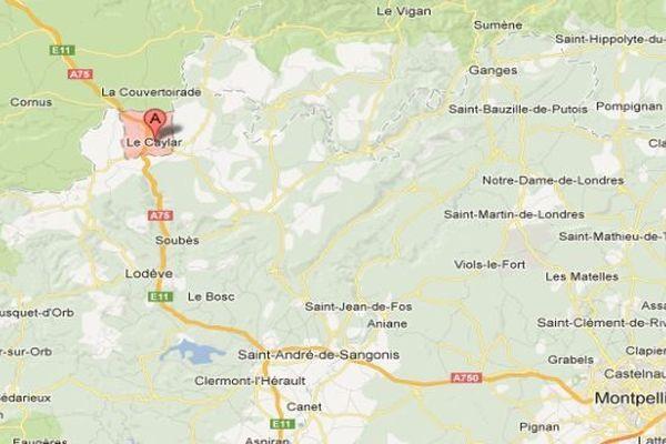 Carte Google Le Caylar (Hérault)