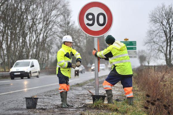 La limite des 90km/h va revenir progressivement sur environ 10% du réseau routier de la région