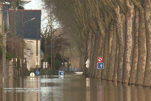 Au mois de décembre 2019 des records de pluviométrie comme ici à Angers ont entraîné de nombreuses inondations
