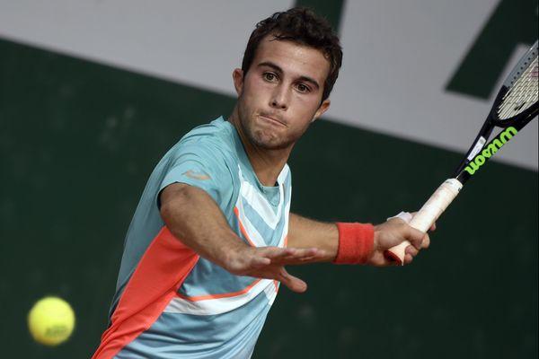 Hugo Gaston lors du 2ème tour de Roland Garros