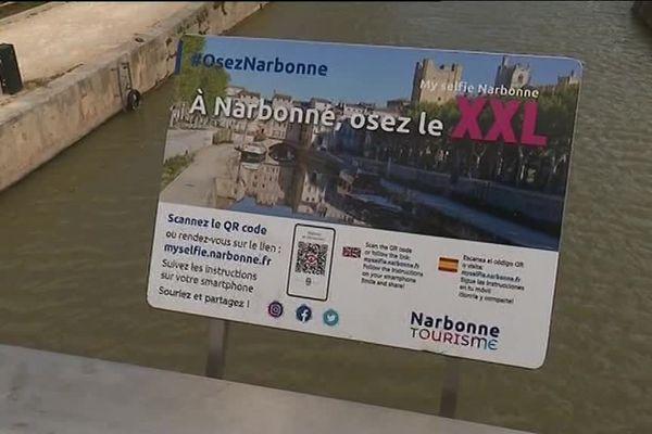Un selfie XXL à Narbonne pour favoriser le tourisme.