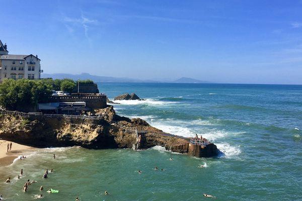 Biarritz en saison estivale, sur la côte basque