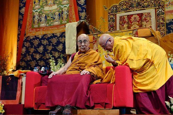 Le Dalaï Lama et le moine bouddhiste Matthieu Ricard