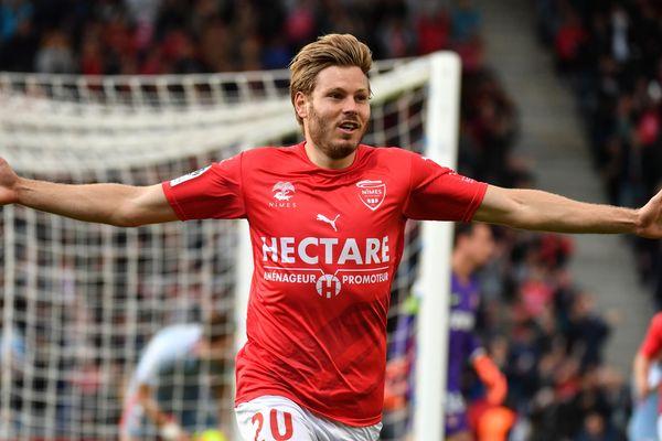 Renaud Ripart a marqué le but victorieux pour Nîmes face à Monaco.