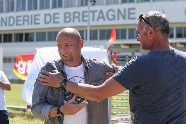 Maël Le Goff (CGT) soulagé après l'annonce de la non-fermeture de l'usine de Caudan (56)