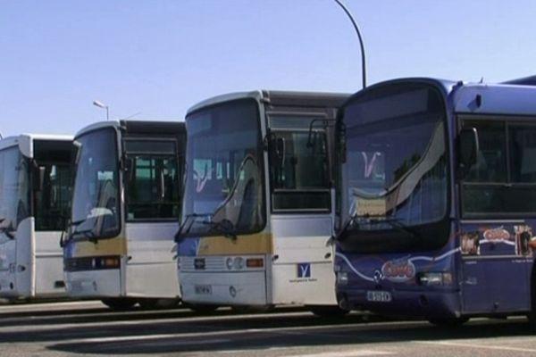 Ce matin, à Avignon, les bus étaient tous au dépôt