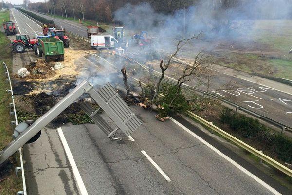 L'autoroute A64 entre Muret et Saint-Gaudens, le 07/02/2018