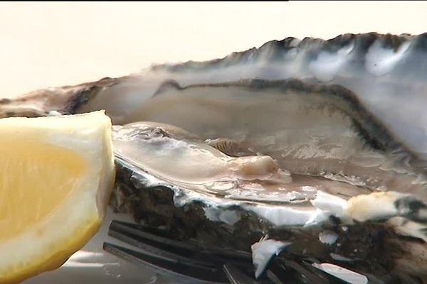 Huître du lac d'Hossegor dans les Landes prête à être consommée
