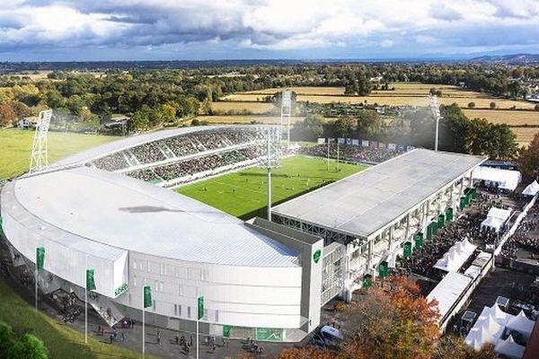 Vue aérienne du futur stade du Hameau