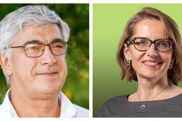 Patrick Pujol, maire sortant de Villenave d'Ornon face à la candidate de gauche Stéphanie Anfray. Un duel serré.