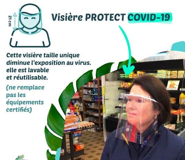 La visière, une alternative pour lutter contre la contamination du Covid-19 , d'après les concepteurs