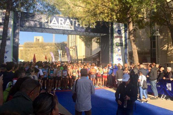 Plusieurs milliers de coureurs se sont élancés pour la 9ème édition du marathon de Montpellier - 24 mars 2019