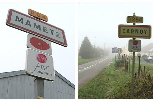 Mametz et Carnoy comptent chacune moins de 200 habitants.