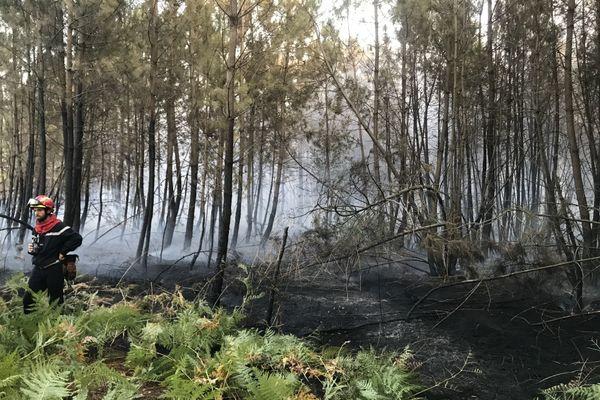 Incendie à Saint-Mars d'Outillé, au sud-est du Mans, 17 septembre 2020