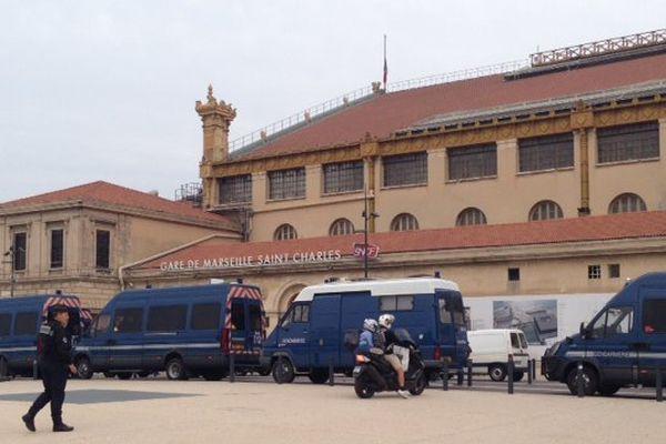 La gare St Charles au lendemain de l'attentat