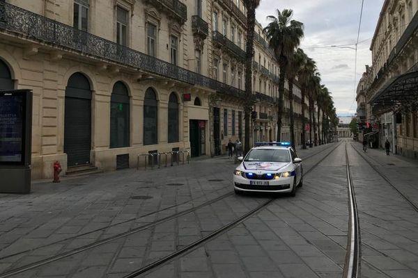 Montpellier - habituellement, ce boulevard est plein de manifestants pour la fête du Travail - 1er mai 2020.