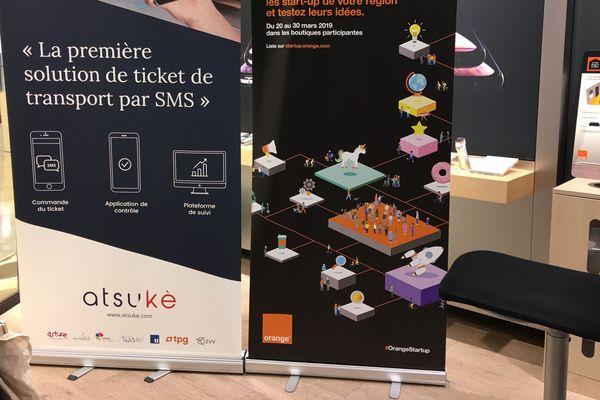 La boutique Orange accueillait la start-up Atsukè ce lundi 25 mars 2019.