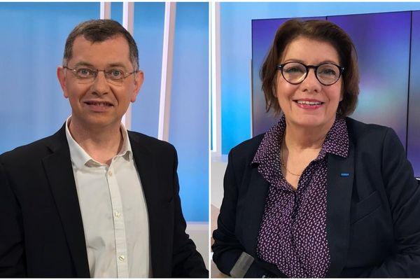 Jean Paul Vermot et Agnès Le Brun sont face à face pour le débat du 2e tour des municipales de Morlaix ce 18 juin à 18h