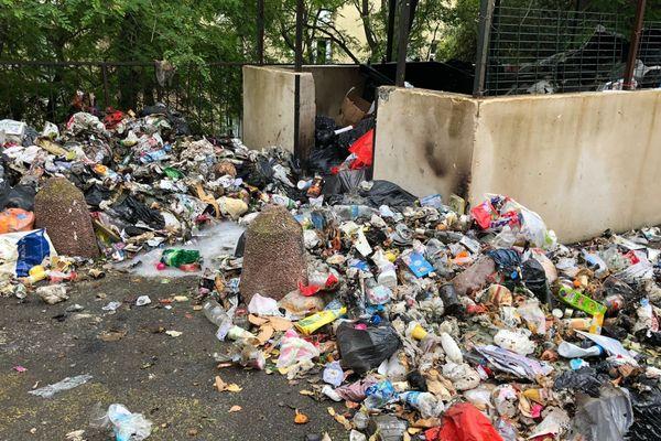 05/05/2018 - Une dizaine de conteneurs à poubelles a été incendiée en région bastiaise sur fond de crise des déchets en Corse.