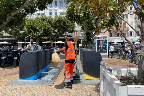 Près de 200 agents pour la collecte, pas de vacances durant le festival de Cannes.