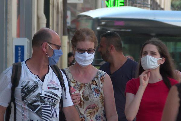 Le port du masque était déjà obligatoire dans les rues du centre-ville de Dijon.