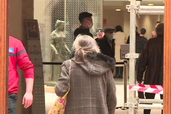 Les visiteurs étaient nombreux ce mardi matin lors de la réouverture du musée Hyacinthe Rigaud à Perpignan.