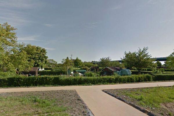Le jardin familial à proximité du zénith de Caen