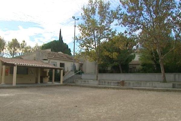Montady (Hérault) - le boulodrome, lieu du meurtre - 8 octobre 2012.