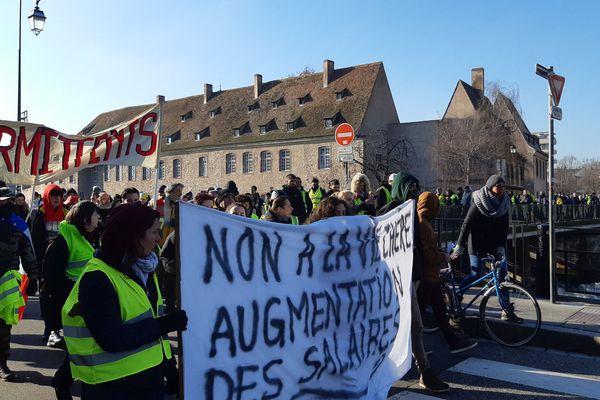 Manifestation des gilets jaunes à Strasbourg le 19 janvier dernier