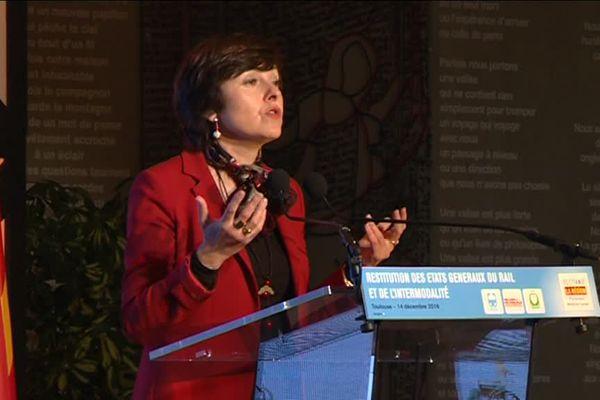 Carole Delga aux états généraux du rail à Montpellier
