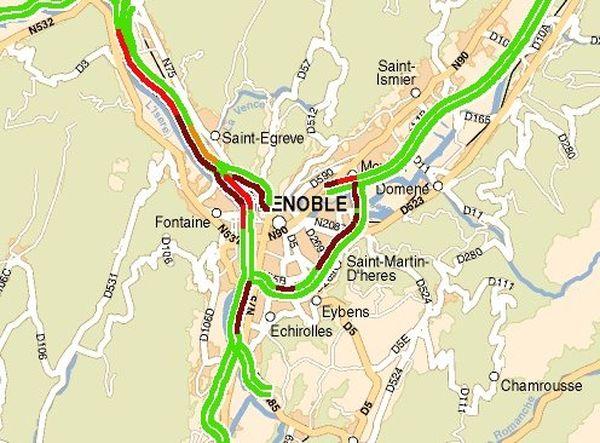 La situation à 16h30, à Grenoble et son agglomération.