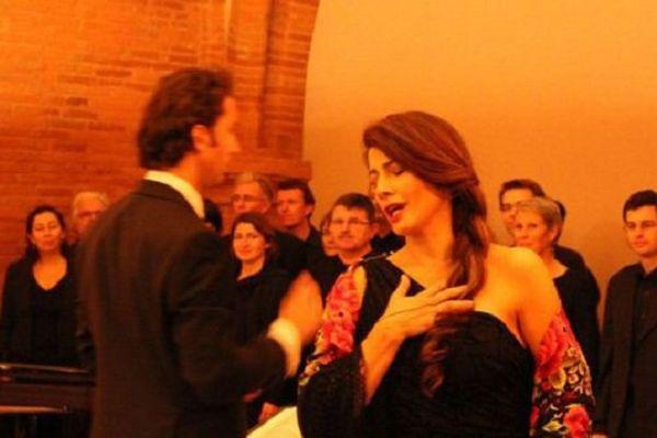 La mezzosoprano Guiseppina Piunti lors d'un récital à la DRAC.