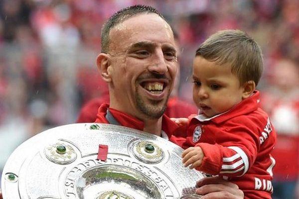 Ribéry, champion d'Allemagne avec le Bayern Munich.