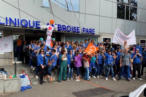 Du vendredi 27 septembre au vendredi 4 octobre derniers les personnels de la clinique Ambroise Paré de Toulouse ont mené un mouvement de grève qui a connu une importante mobilisation.