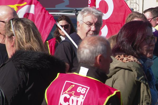 La CGT 66 est venue soutenir le 20 février les 13 employés menacés de licenciement à Babou, à Perpignan.