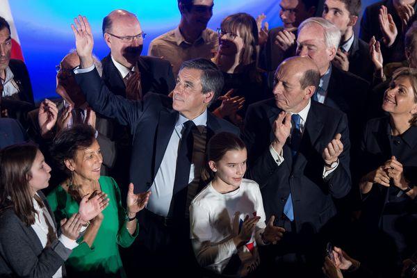 François Fillon en meeting à Maisons-Alfort (Val-de-Marne), le 24 février.