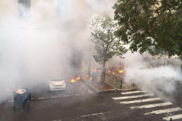 Des incidents ont éclaté dans le centre-ville de Bastia entre la place Saint-Nicolas et la place du Marché, le 15 octobre 2016.