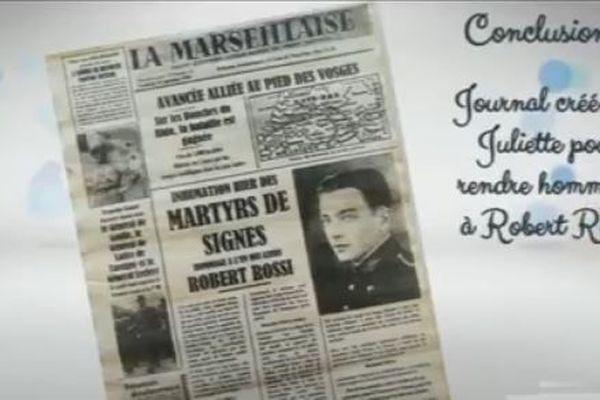 Des élèves du collège Jean L'Herminier ont imaginé les carnets de route des résistants fusillés à Signes en 1944, et les ont mis en vidéo.