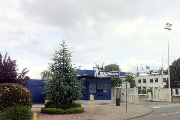 L'entrée de l'usine Michelin à Blanzy (71)