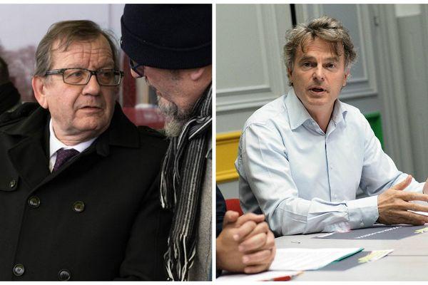 Alain Bruneel (à gauche) et Fabien Roussel (à droite) sont élus.