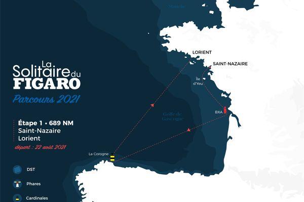 La première étape de la Solitaire du Figaro 2021 offre une entrée en matière des plus musclées sur plus de 1200 km