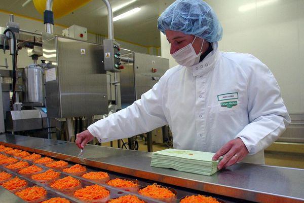 L'usine Fleury Michon à Pouzauges en Vendée