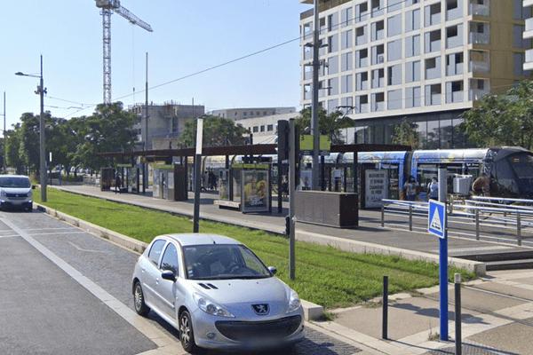 L'accident est intervenu a proximité de cet arrêt de Tram de Montpellier (Hérault).