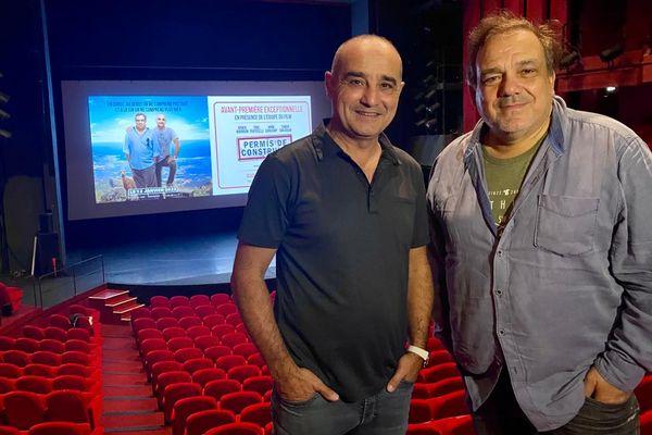 Les deux acteurs et humoristes partagent l'affiche du premier long-métrage réalisé par Eric Fraticelli, dont la sortie en salle est prévue pour janvier 2022.