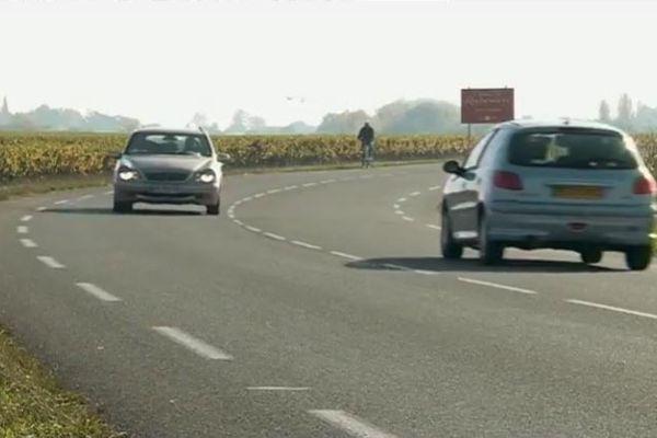 La départementale 109 est un itinéraire de délestage recommandé par les applications mobiles pour éviter les embouteillages sur l'A62