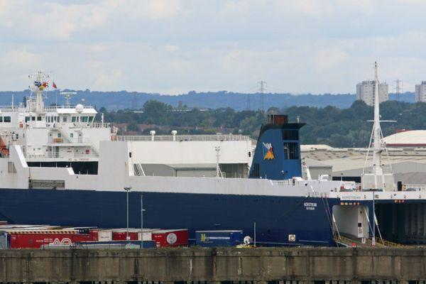 Le conteneur faisait partie de la cargaison de Norstream, un navire de la compagnie P&O.